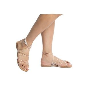 New in box clear sandals
